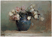 Abbott Prints - Roses Print by Abbott Handerson Thayer