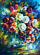 Original Oil Paintings - Roses and  by Leonid Afremov