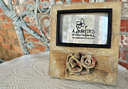 Burlap Ceramics Framed Prints - Roses are Red Framed Print by Amanda  Sanford