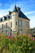 Turret Prints - Roses at the Castle Print by Olivier Le Queinec