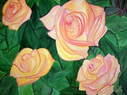 Indian Artist Prints - Roses Print by Dipali Deshpande