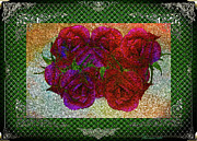 Roses- Featured In Beautiful Roses And Comfortable Art Groups Print by EricaMaxine  Price