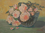 Most Popular Paintings - Roses II by Monica Caballero