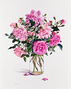 Bundle Posters - Roses in a Glass Jar  Poster by Christopher Ryland