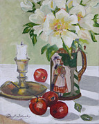 Winifred Lesley - Roses in earthen ware jug