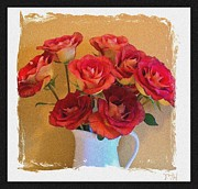 Floral Still Life Prints - Roses in Red Print by Marsha Heiken
