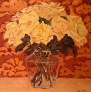 Most Popular Paintings - Roses by Monica Caballero