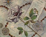 Rosary Mixed Media Framed Prints - Roses Framed Print by Sandy Clift