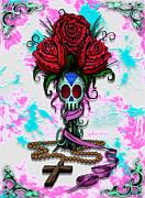 Sugar Skull Digital Art - Roses by Steve Hartwell