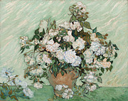 Still Life Paintings - Roses by Vincent Van Gogh
