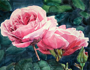 Rose Garden Paintings - Roses Wildebras by Greta Corens