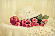 Roses With Apple Print by Gynt Art