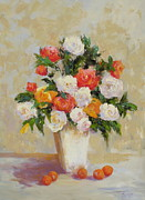 Apricots Originals - Roses with Apricots by Barrett Edwards