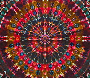 Featured Tapestries - Textiles Originals - Rosetta Stone Mandala by Courtenay Pollock