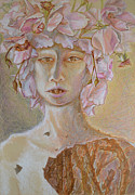 Blooming Drawings Originals - Rosewoman by Nancy Mauerman
