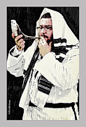 Orthodox Rabbi Framed Prints - Rosh Hashanah Framed Print by Starlite Studio