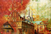 Restaurants Paintings - Roskilde Cathedral by Catf