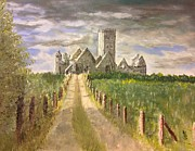 Ross Painting Originals - Ross Abbey Galway by Les Duffy