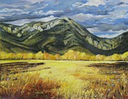 Ross Painting Originals - Ross Peak at Springhill Montana by Paintings by Parish