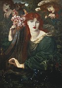 Pre-raphaelites Photo Metal Prints - Rossetti, Dante Gabriel 1828-1882. La Metal Print by Everett