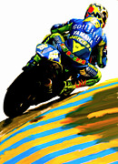 David Drawings - Rossi II Valentino Rossi by Iconic Images Art Gallery David Pucciarelli