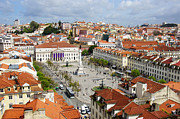 Red Roofs Photos - Rossio Square by Carlos Caetano