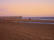 Evening Scenes Prints - Rosy Evening at Isle of Palms Print by Kendall Kessler