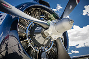 Airplane Radial Engine Photos - Rotary Engine and Prop by Bradley Clay
