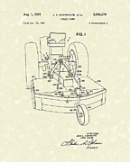 Mower Prints - Rotary Mower 1961 Patent Art Print by Prior Art Design