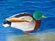 Ducks Pastels - Rotary Pond Duck by David Perfors