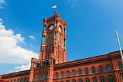 Berlin Germany Prints - Rotes Rathaus the town hall of Berlin Germany Print by Michal Bednarek