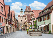 Rothenburg Posters - Rothenburg ob der Tauber Poster by JR Photography