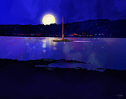 Johnny Trippick Posters - Rothesay by Night Poster by Johnny Trippick