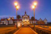 Bath-house Photos - Rotorua Bath House Illuminated Twilight New Zealand by Colin and Linda McKie