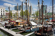 Sailing Ship Framed Prints - Rotterdam City Marina Framed Print by Artur Bogacki
