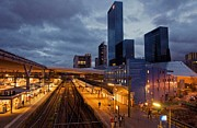 Skyscaper Posters - Rotterdam train station Poster by Cosmin Munteanu