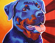 Dawgart Painting Originals - Rottweiler - Baloo by Alicia VanNoy Call
