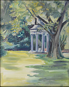 Chatham Painting Originals - Rotunda at Chatham by Elena Broach