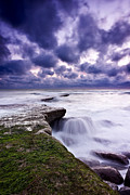 Waterscape Photo Posters - Rough sea Poster by Jorge Maia