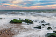 Cape Cod Landscape Posters - Rough Waters Poster by Bill  Wakeley