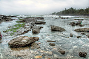 Juan De Fuca Provincial Park Prints - Rough Waters Print by James Wheeler