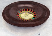 Wheel Drawings - Roulette Wheel by Bav Patel