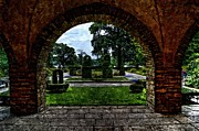 House With Garden Framed Prints - Round arch with garden Framed Print by Alexander Drum