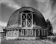 Historic Country Store Prints - Round Barn  Print by Sheila Savage