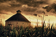 Barn Storm Prints - Round Barn Storm Print by Michael Huddleston