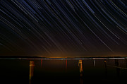 Startrails Prints - Round Bay Startrails Print by Benjamin Reed