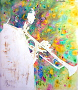 Jazz Artwork Painting Originals - Round Midnight by Ivan Guaderrama