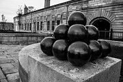 Artillery Metal Prints - Round Shot At The Old Fort Metal Print by Andrew Pacheco