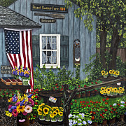 Farm Stand Photo Posters - Round Swamp Farm by Alison Tave Poster by Sheldon Kralstein