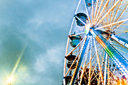 North Carolina State Fair Prints - Round We Go Print by Allison Meder